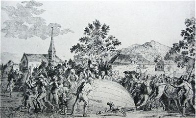 Picture Of Attacked Balloon By Jacques Charles And The Robert Brothers