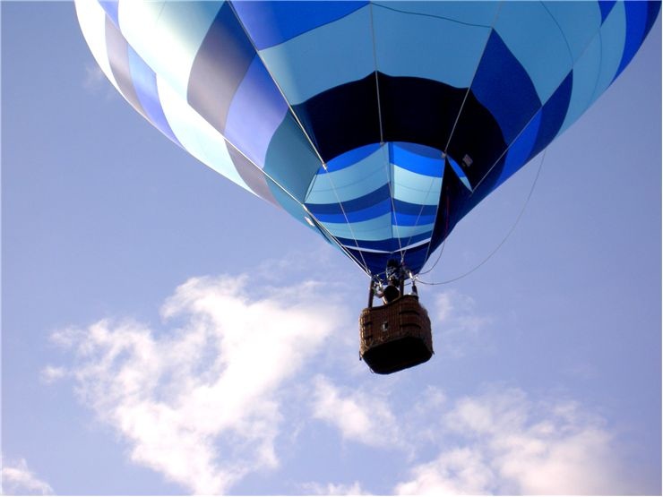 Picture Of Blue Balloon At Blue Sky