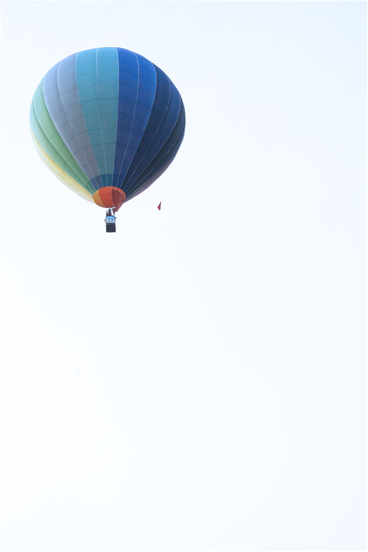 Picture Of Blue Hot Air Balloon
