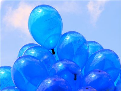 Picture Of Bunch Of Blue Balloons