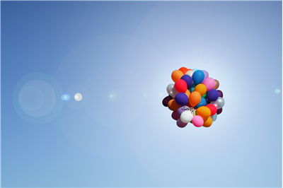 Picture Of Cluster Balloons On Sky