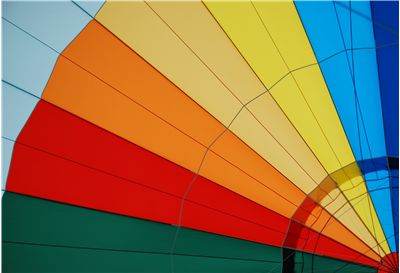 Picture Of Colored Hot Air Balloon