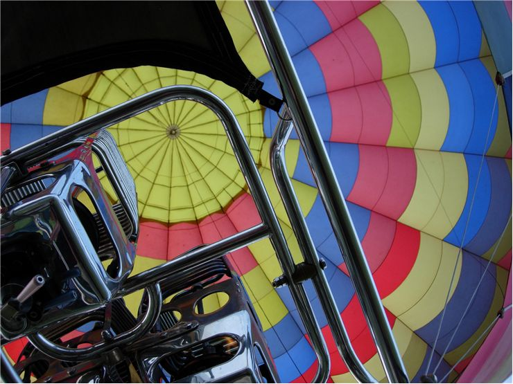Picture Of Engine Of Hot Air Balloon