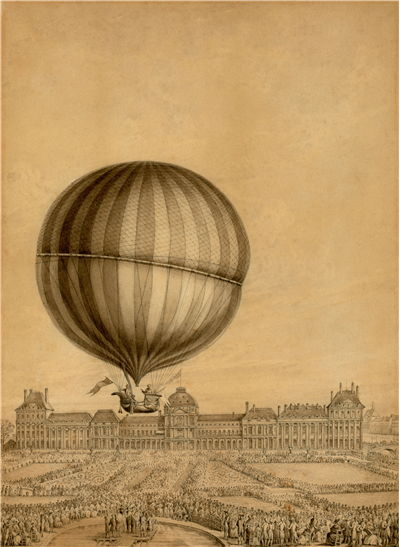 Picture Of First Balloon Flight By Jacques Charles December 1 1783