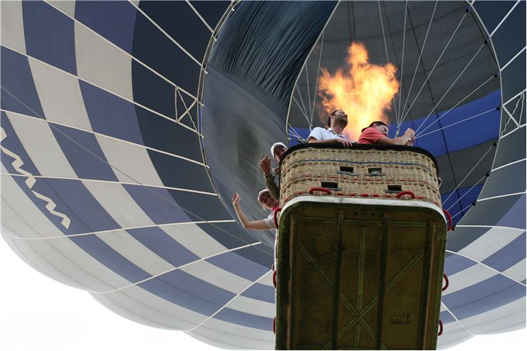 Picture Of Flight Withhot Air Balloon