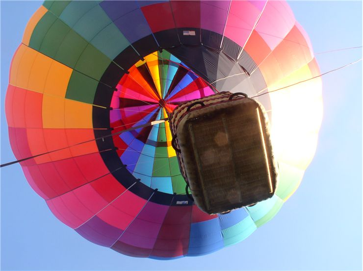 Picture Of Floating Hot Air Balloon