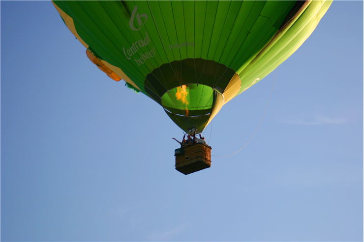 Picture Of Green Hot Air Balloon