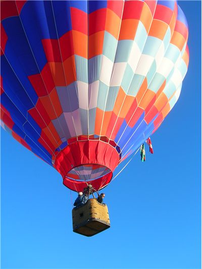 Picture Of Hot Air Balloon And Wine Festival