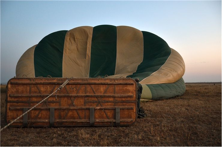 Picture Of Hot Air Balloon Inflated