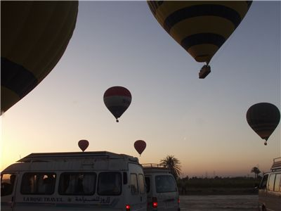 Picture Of Hot Air Balloons Over The Desert